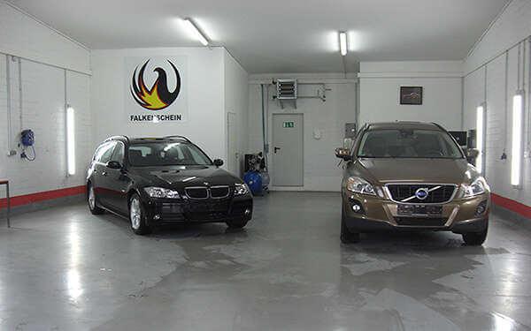 Halle der Autoaufbereitung Falkenschein GmbH